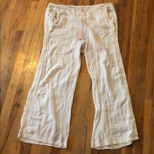 Cute boho white pants
